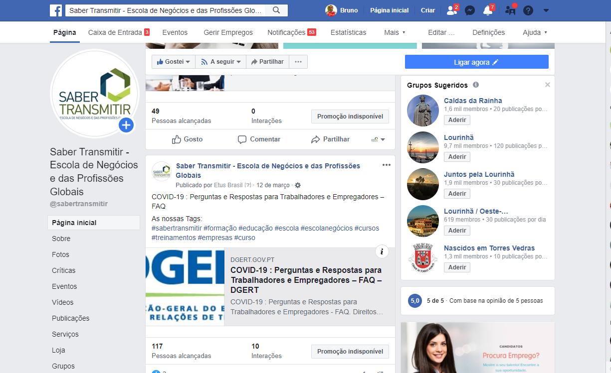 facebook saber transmitir