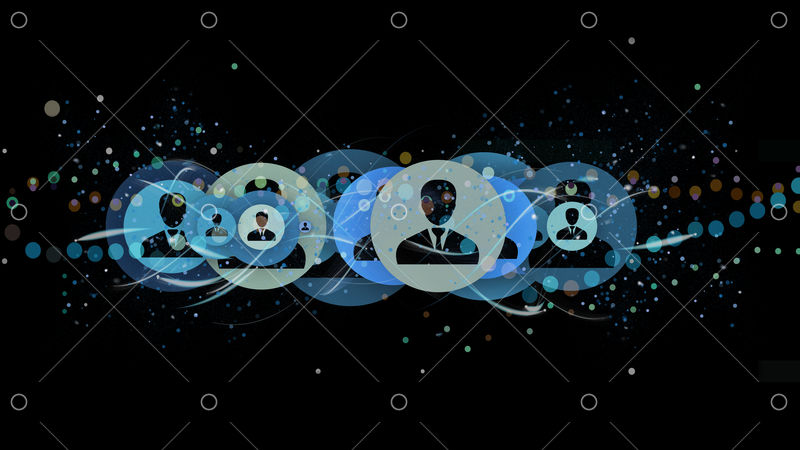 Professional contact network concept isolated on a background 3d rendering
